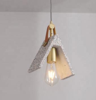 Modern E27 Nordic Metal Hanging Ceiling Light Indoor Custom Dining Room Vintage Loft Cement Pendant Lamp