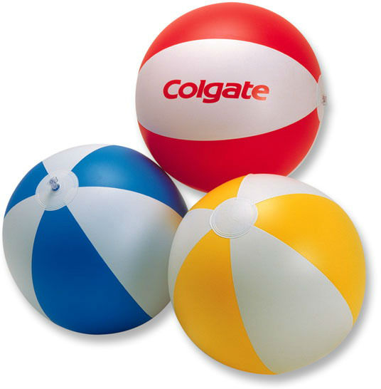 Colorful plastic beach ball for promotion