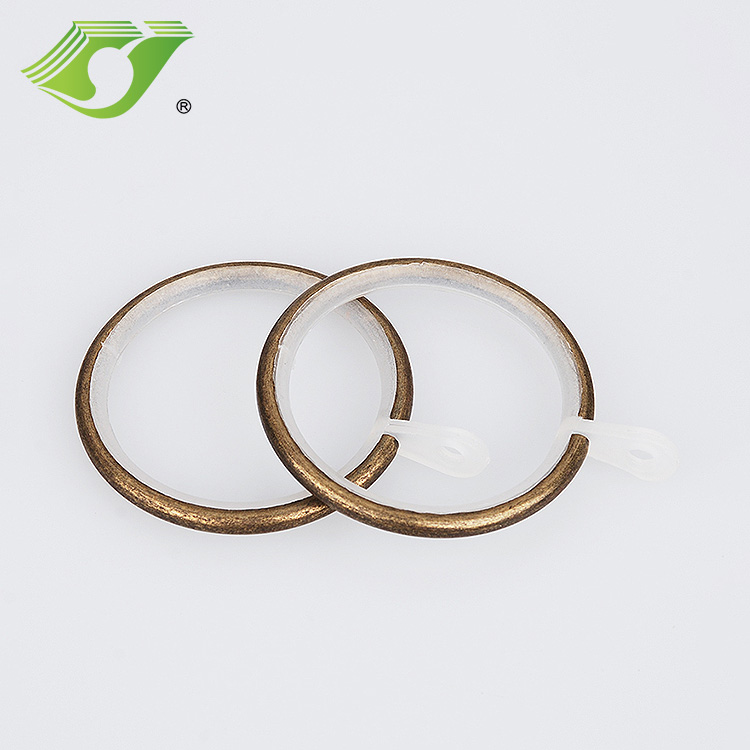 Stardeco 22mm antique brass cheap curtain ring supplier with clips