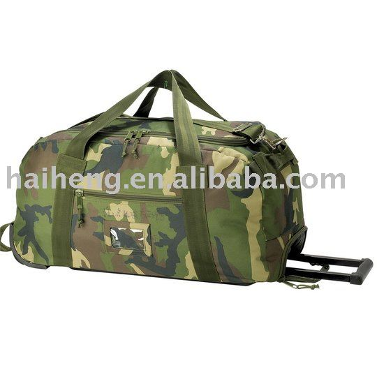 military 600D/PVC strong Rolling duffel bag