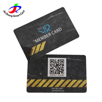 best price plastic business card pvc vip card membership card with QR code