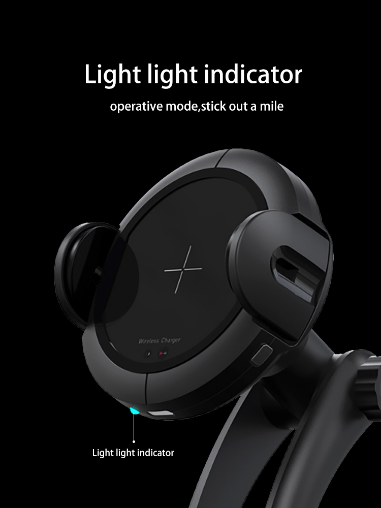 2018 new product universal qi fast charging infrared wireless car charger for mobile phone