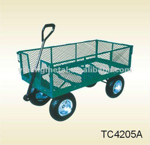 4 ruedas todo terreno tc4205a playa carro de mano for Carretilla dos ruedas mano