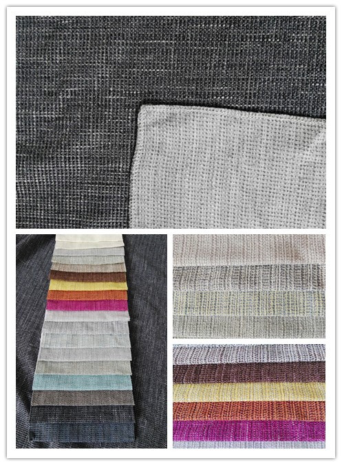 Low MOQ 100%polyester linen look home textile fabric