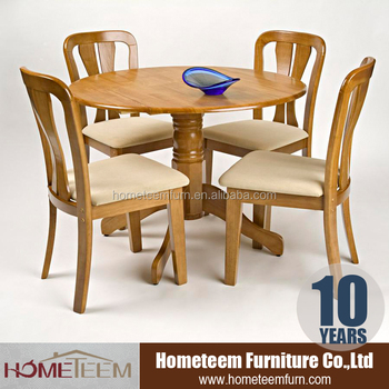 Single leg restaurant dining round table and chair set for Single leg dining table