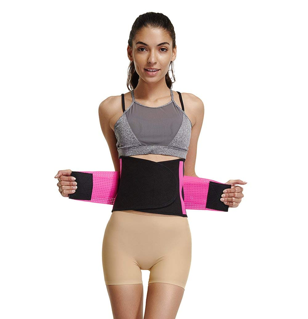 572451c96 Get Quotations · Waist Trainer Belt for Women Cincher Trimmer Slimming Body  Shaper Adjustable Belly Band Wraps Weight Loss