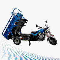 Blue motorized drift trike 3 wheel tricycle trailer / adult three wheel motorcycle for sale