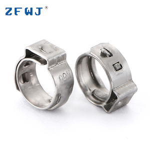 8.8-9.5mm automotive stainless steel mini hose clamp adjustable tube clamps