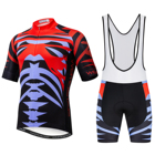 Dropshipping Pro Team Bicycle Clothes Wholesale Cycling Jersey Set Men with Bib Shorts mtb Road Bike Jersey Kits Red Green