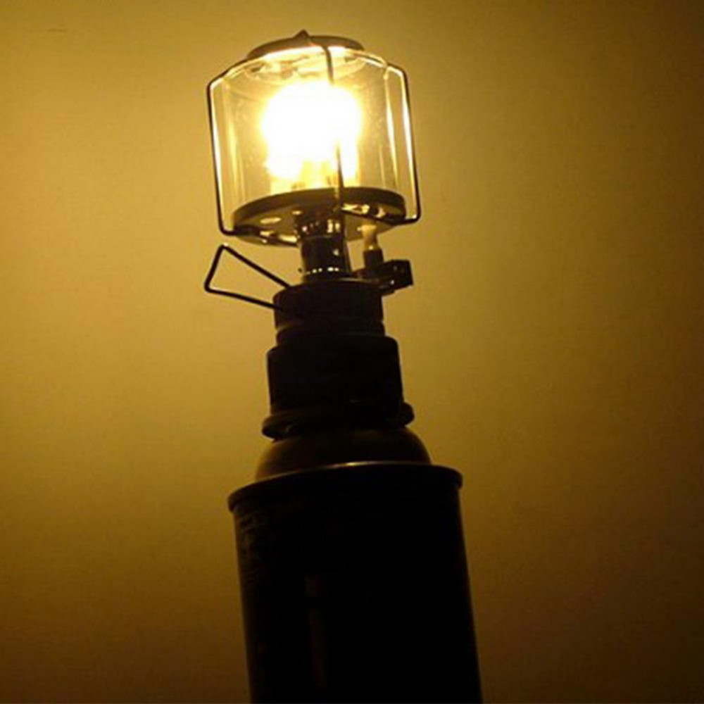 Мини 80LUX наружный фонарь для кемпинга Портативный Алюминиевый Газовый свет тент лампа факел подвесная стеклянная лампа дымоход бутан для путешествий
