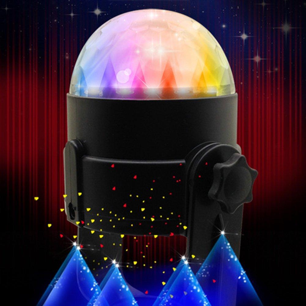 SOROPIN Car DJ Light USB Atmosphere Lamp LED Music Rhythm Light Sound Music Active Flashing DJ Light