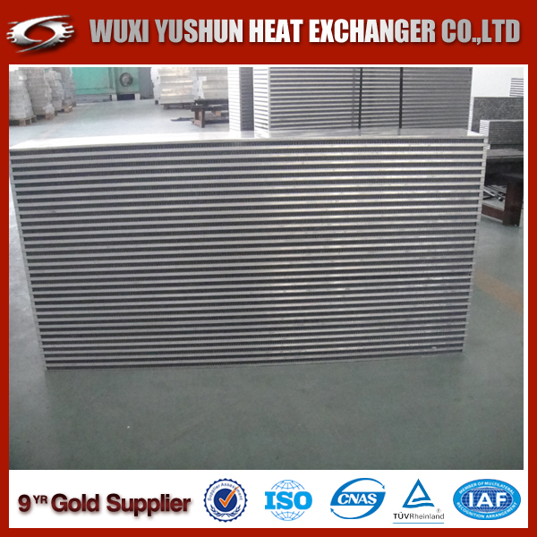 High heat transfer performance brazed intercooler core for heavy truck