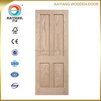 interior engineered red oak/pine veneer wooden panel wooden door