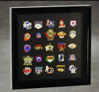 Executive lapel pin acrylic display case with crystal clear acrylic