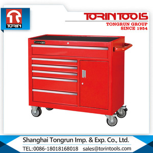Elegant mechanics tool cart with top drawers toolbox
