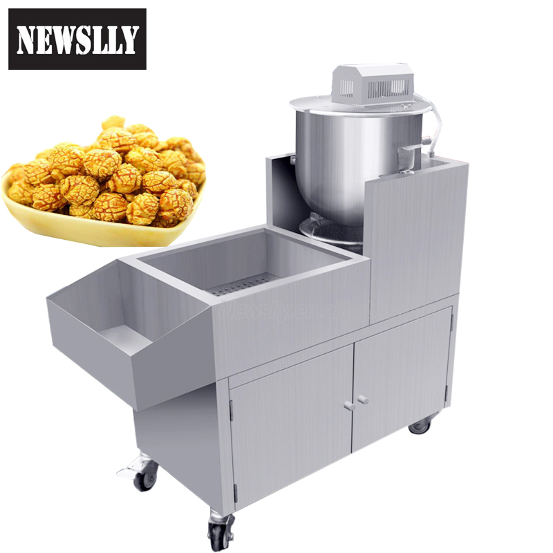 Industrial automatic gas popcorn machine kettle caramel popcorn maker corn puffing machine