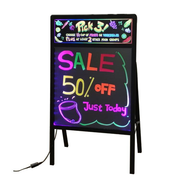 LED Writing Board Fluorescent Painting Board Dry Wet Erase With Stand Lighting Box Remote Controller