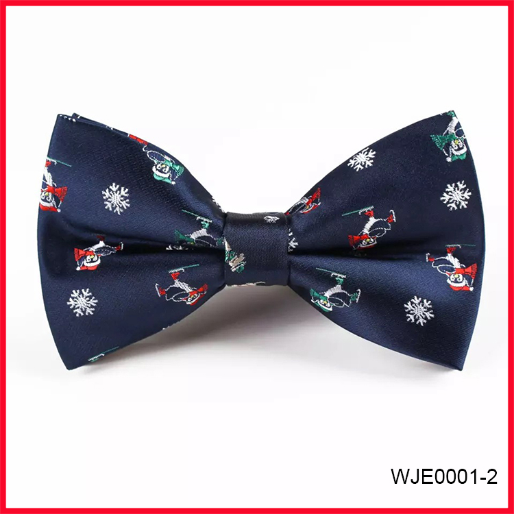 Wholesale Polyester Woven Bow Ties Christmas Tree Bowties