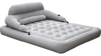 luxury double inflatable flocked air bed mattress