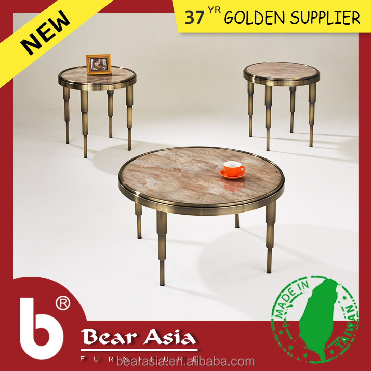 Home Furniture Living room sets with antique tea table Marble coffee table