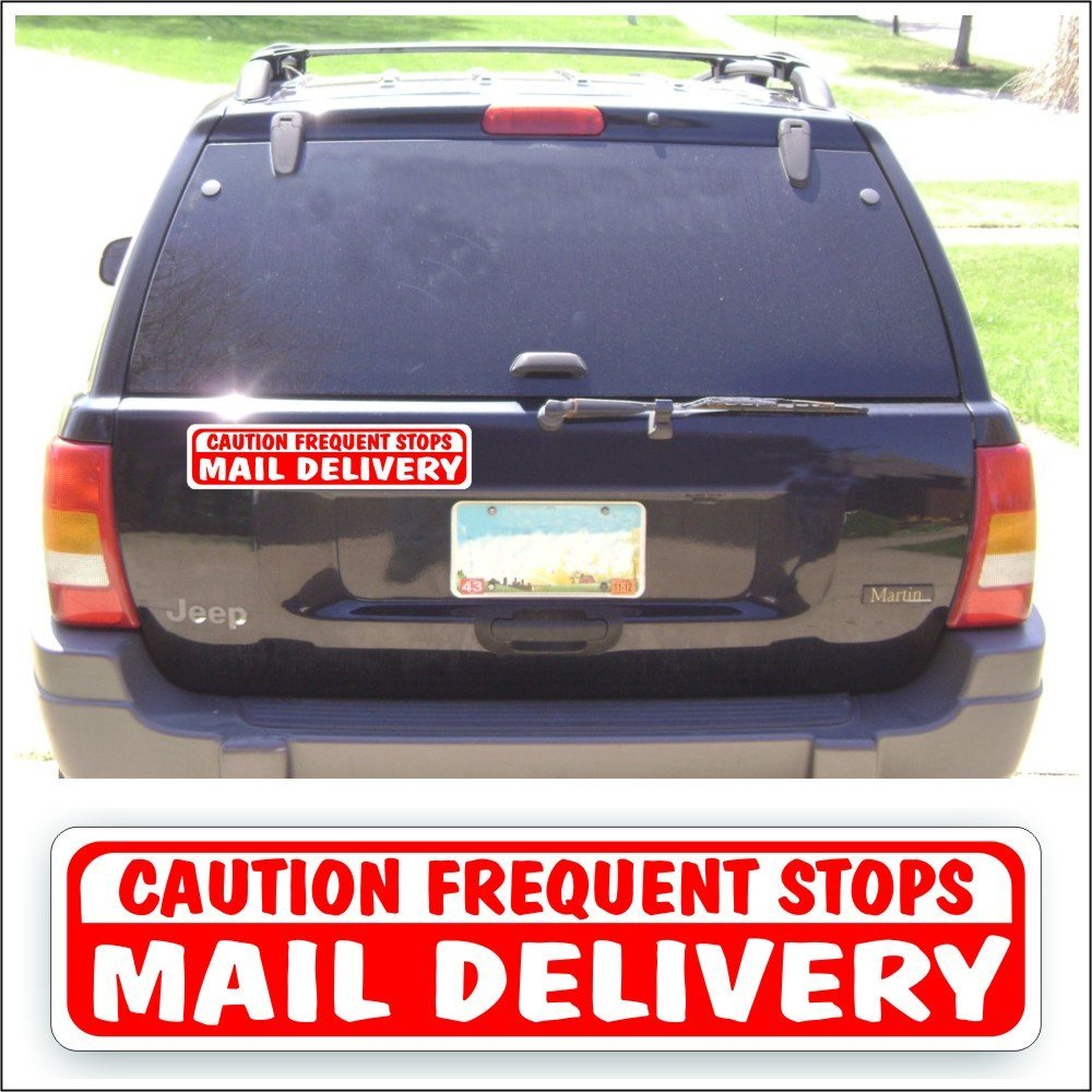 """2 U.S 2 FREQUENT STOPS Yel Magnetic MAIL Magnetic Signs  USPS -10/"""" X 12/"""" /&"""