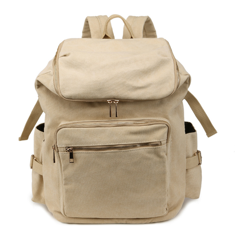 Vintage Canvas Backpacks for Women Laptop Bag Canvas Rucksack Men Casual Style 12 13 14 15 Inch Notebook Backpack for Men Women