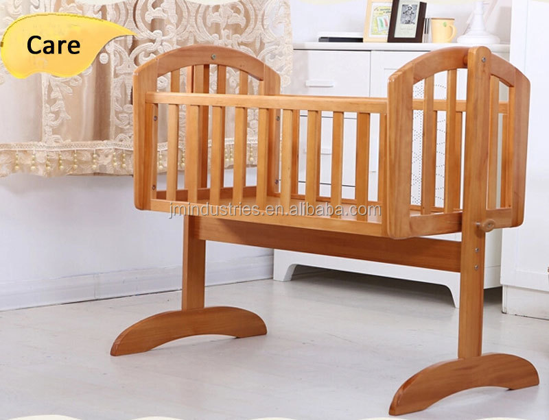 Classic Design White Pine Wood Baby Crib Swing Cradle - Buy Baby ... bb470d436