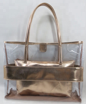 2018 Wholesale Fashion Woman Shopping Pvc Transparent Tote Bag - Buy ... ef8dba75e477b