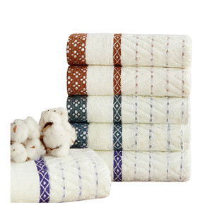 High Class Dobby End Checker Jacquard 100% Cotton Terry Hand Towel