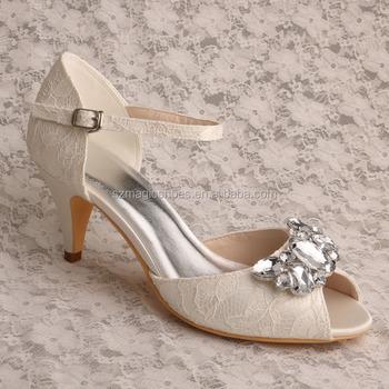 White Lace Elegant Classy Dress Shoes