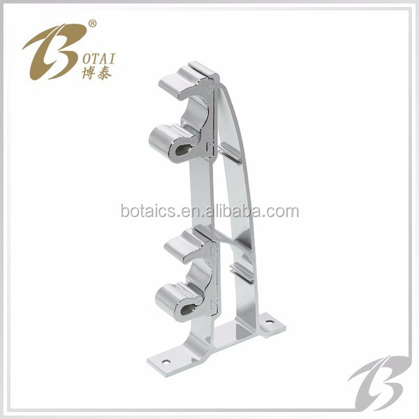 curtain accessoies plastic or aluminum material single or double curtain rod bracket