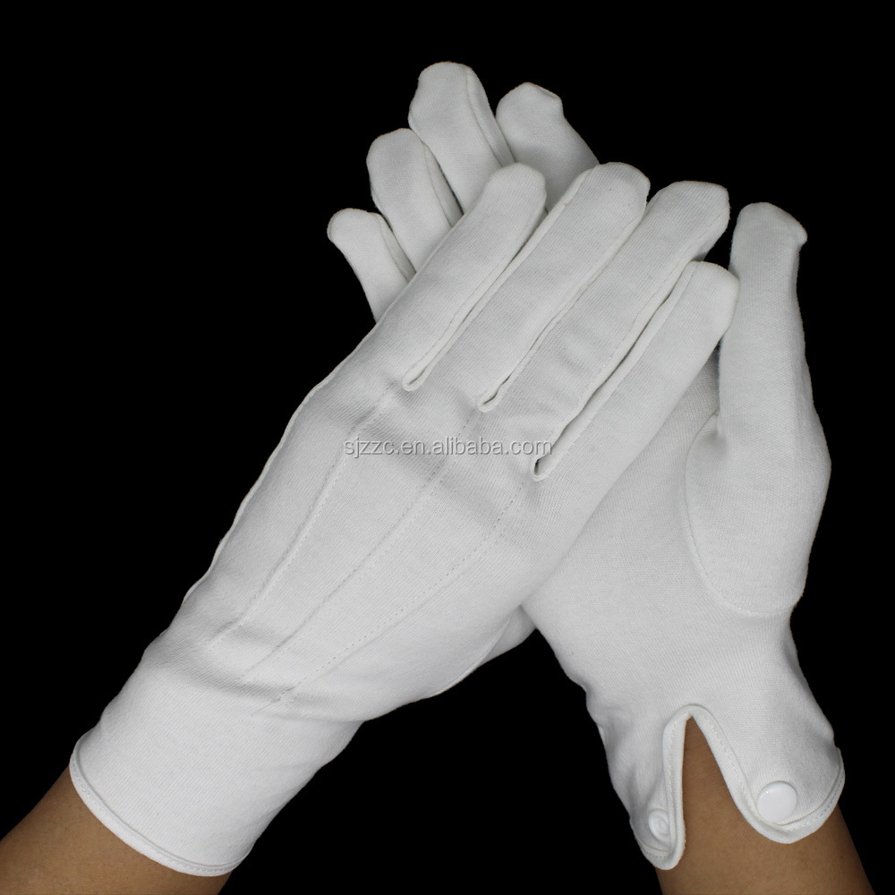 Marching Band Cotton Hand Job Hosiery Gloves With Strips Snap Enclosure Buy 3 Line White Gloves Military Band Uniform Gloves Cotton Marching Glove Product On Alibaba Com