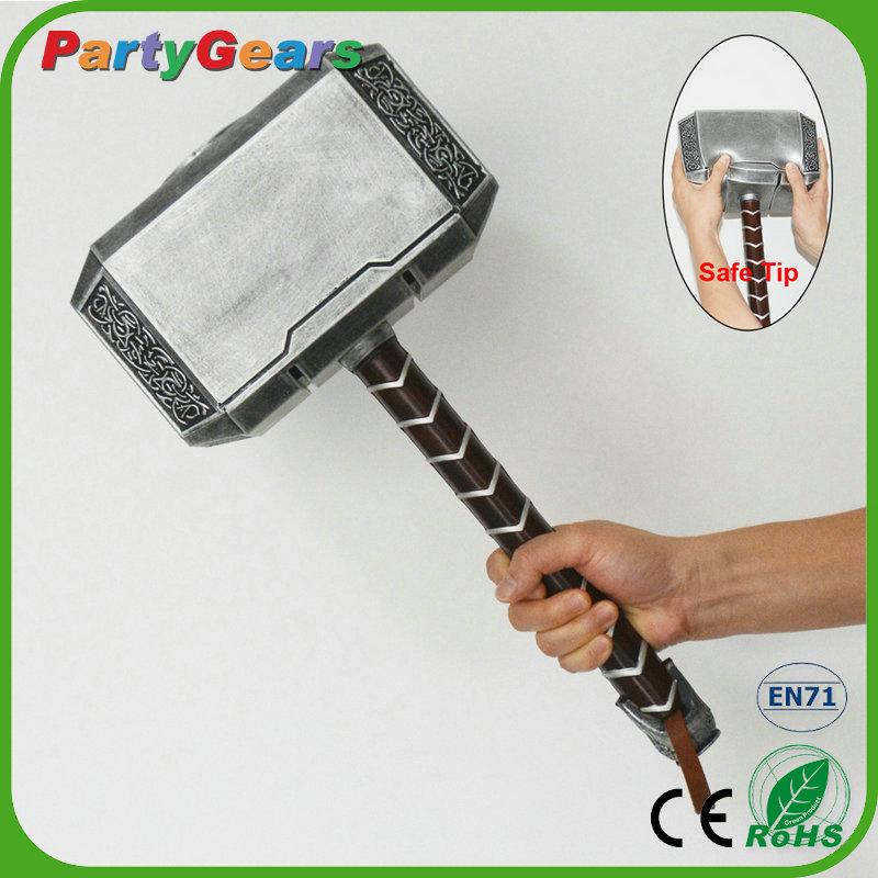 Safety & Endurance PU Foam Cosplay Dongguan Toy Weapon Hammer Of Thor