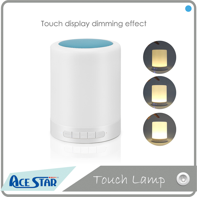 Hands-free calling led touch bedside lamp led wireless bluetooth speaker lamp with FM radio