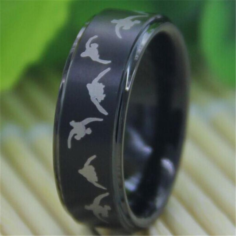 Tungsten Duck Band Wedding Rings