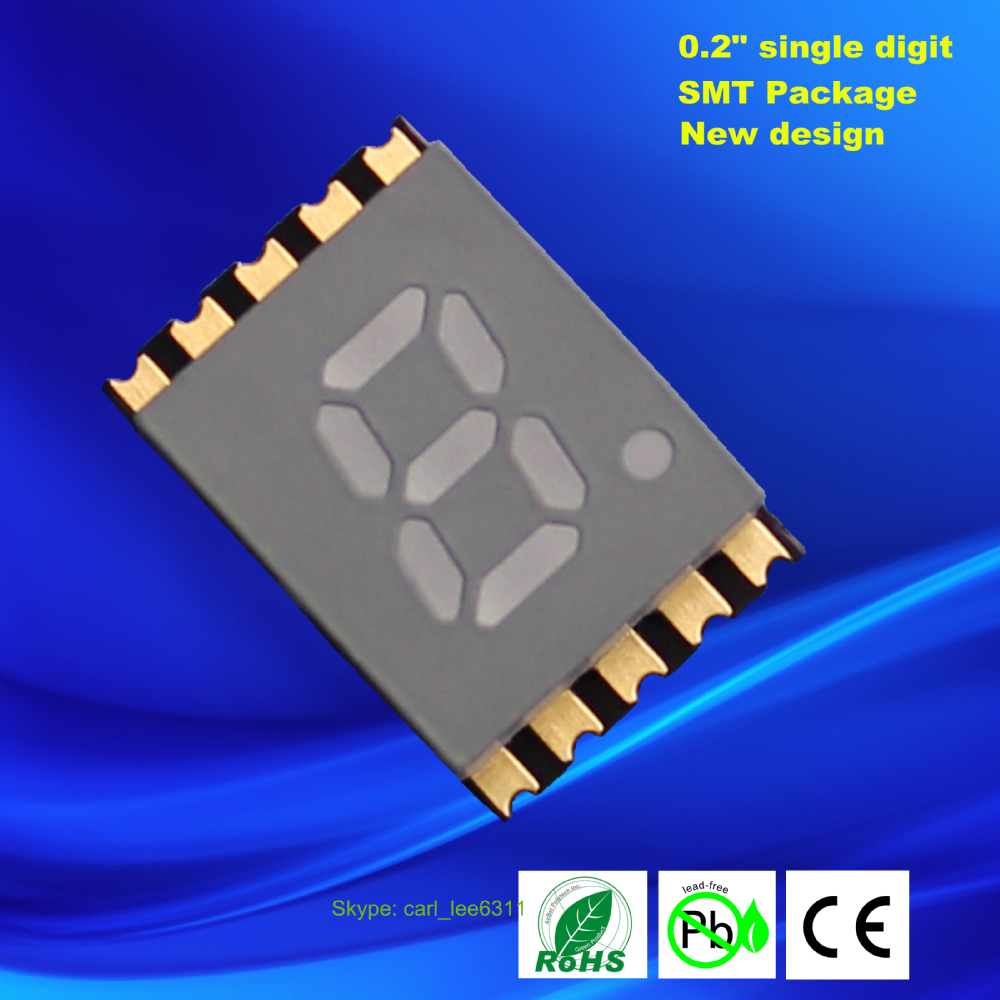 Electronics led smt 0.2 inch reverse mount 7 segment smd led display