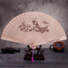 [i Am Your Fans]sufficient Stock!high Quality Chinese Traditional Design Danfeng Bird Wood Craft Hand Fan Stand