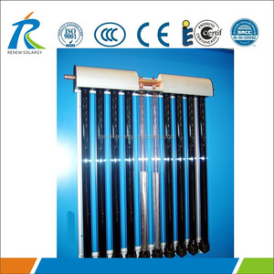 15 tubes pressurized solar collector with copper heat pipe