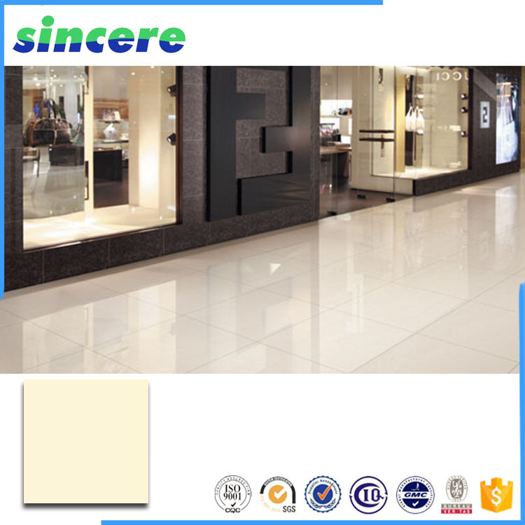 ivory color soluble salt vitrified floor tiles