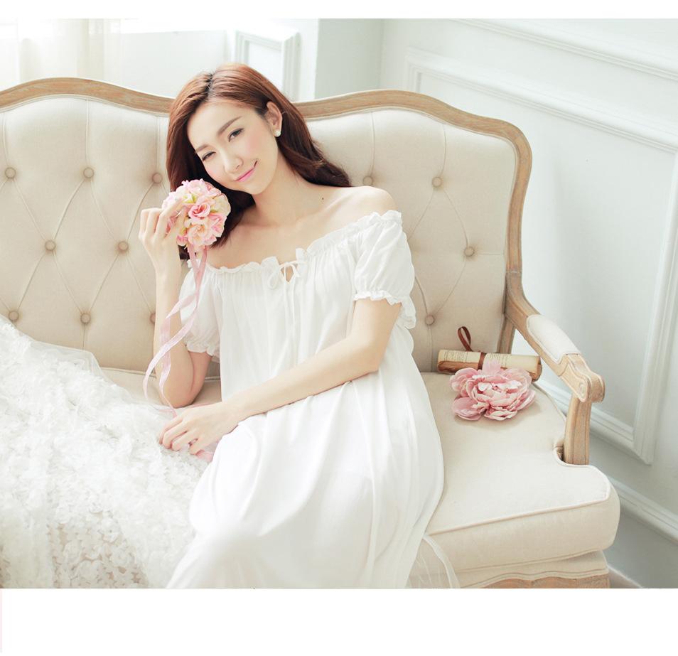 5fa50dbb1e 2019 Wholesale New Ladies Nightgown Cotton Night Dress Short Sleeve ...