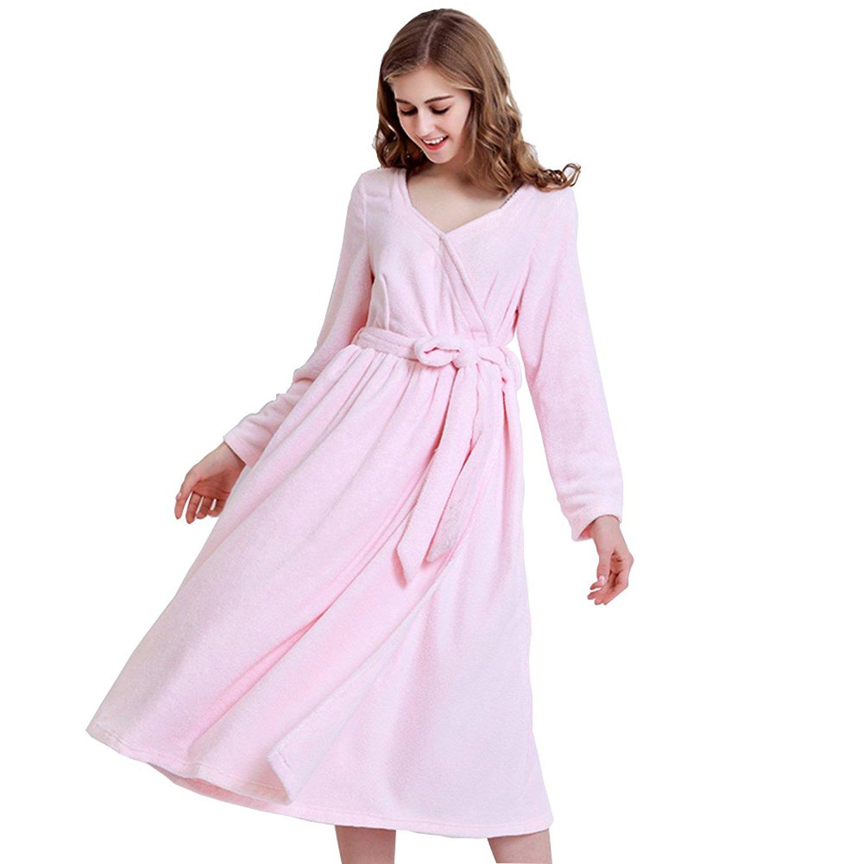 90f66d0c33 Get Quotations · lovehouse Women s Robes Long Terry Cloth Bathrobe Cotton  Lightweight Sleepwear Girls