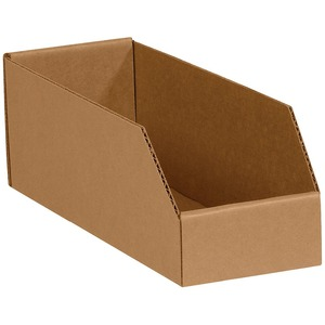 Custom Open Top Bin Boxes Corrugated Board Display Paper Box