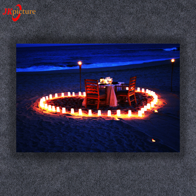 Wholesale Canvas Manually Mounted Led Lights At Night Hotel Wall Artwork