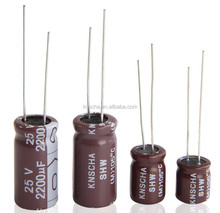 KNSCHA Radial Type Aluminum electrolytic capacitor 47UF 35V 6*9mm, Low Impedance ,ripple current high frequency
