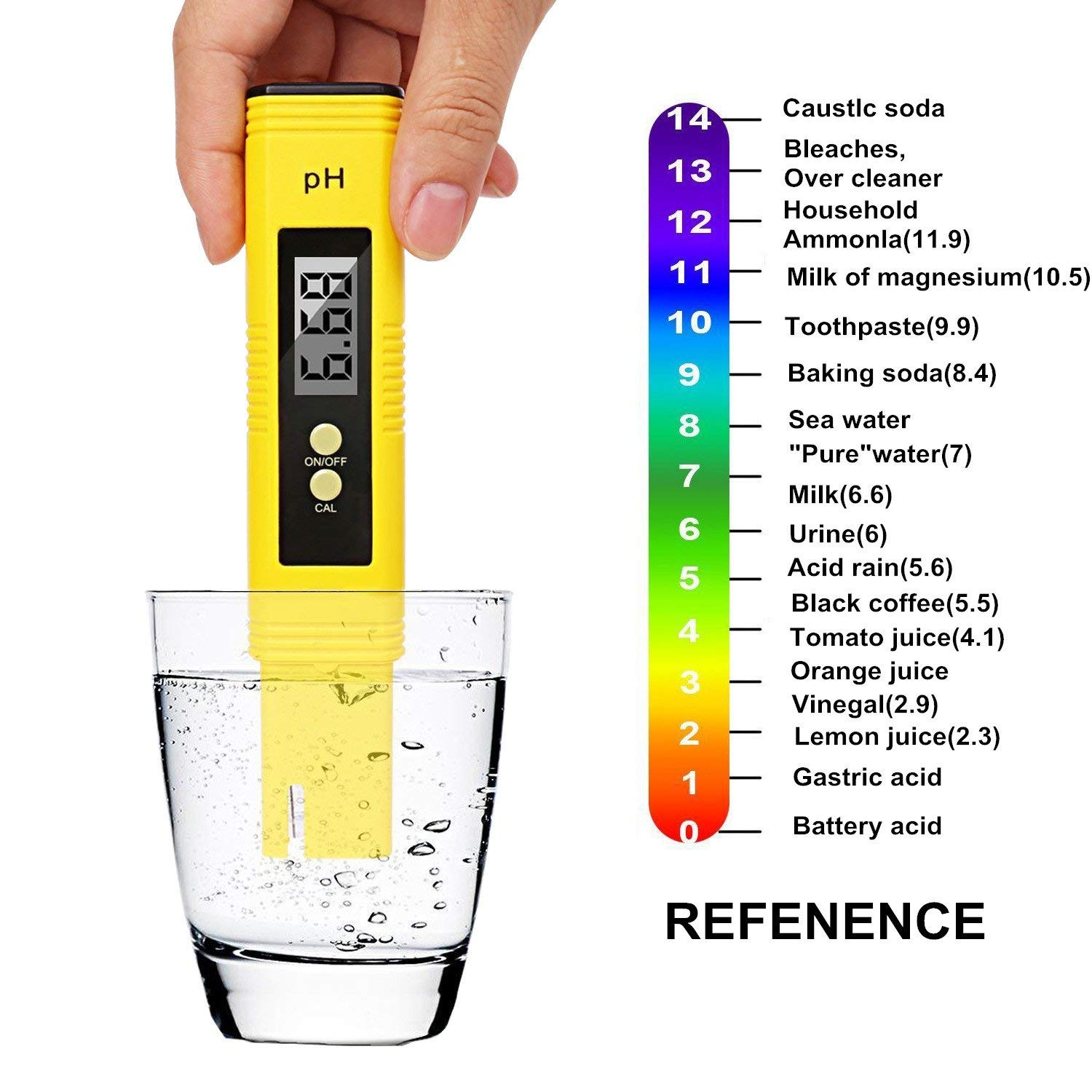Stolife PH Meter, Digital PH Tester, Mini Water Quality Tester for Household Drinking Water, Hydroponics, Aquariums, Swimming Pools