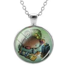JWEIJIAO slith Bradypod ожерелье для животных, аксессуары для одежды, стеклянный кабошон, купольная Регулируемая цепь, украшения ZZ67(Китай)