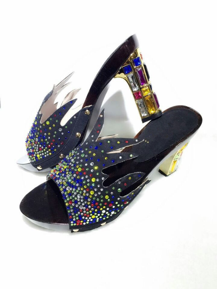 6955f85732d9 Buy factory price colorful Rhinestone African sandals for party