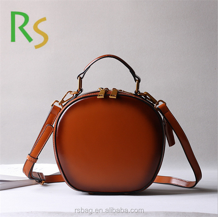 China Supplier Custom <strong>trade</strong> assurance vintage leather genuine leather tote handbag leather satchel bag