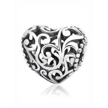 Аутентичные оригинальные бусины из стерлингового серебра 925 амулет, сердечко любви семейное дерево мама талисманы подходят Пандора брасле...(Китай)