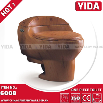 family toilet seat wood. Deep colour commode family use wood grain one piece siphonic toilet Colour Commode Family Use Wood Grain One Piece Siphonic